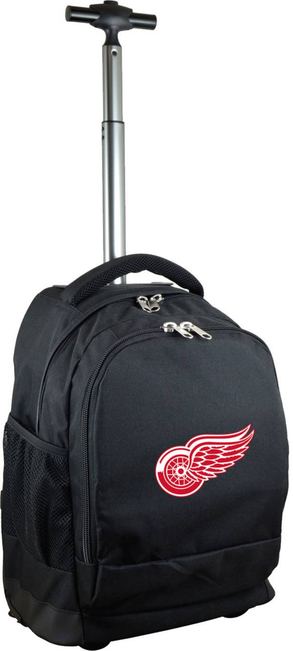 Mojo Detroit Red Wings Wheeled Premium Black Backpack product image
