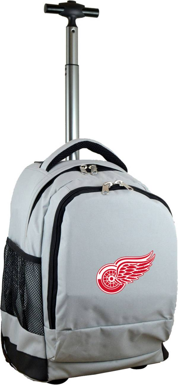 Mojo Detroit Red Wings Wheeled Premium Grey Backpack product image