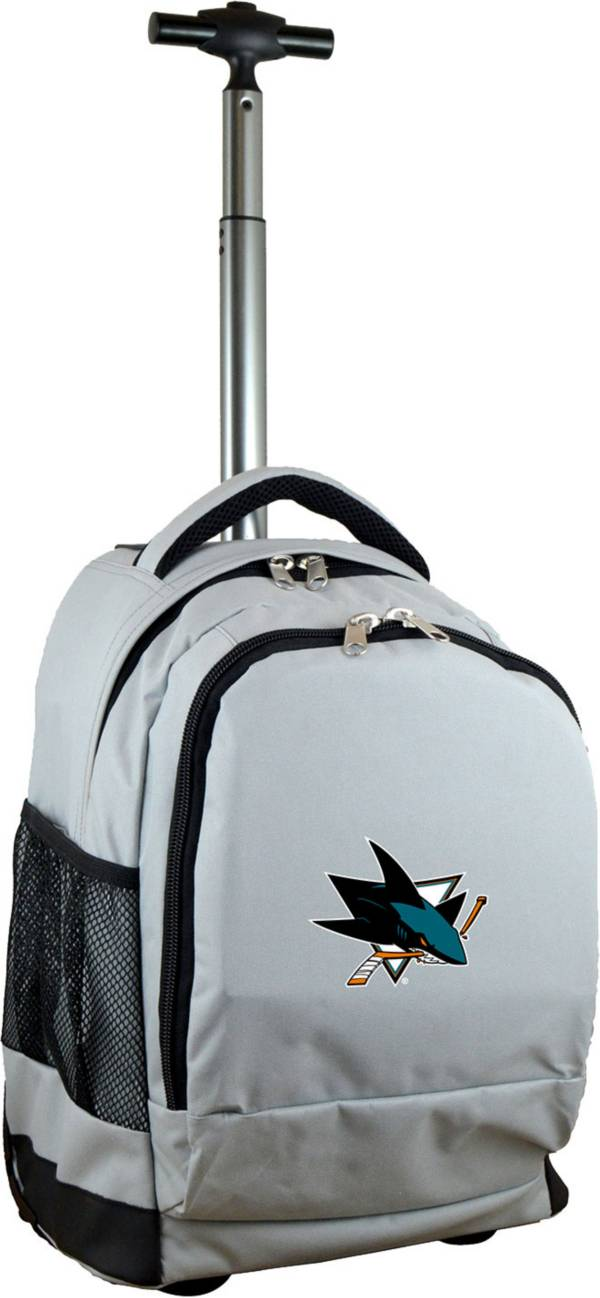 Mojo San Jose Sharks Wheeled Premium Grey Backpack product image