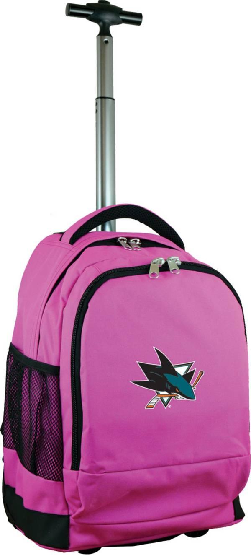 Mojo San Jose Sharks Wheeled Premium Pink Backpack product image