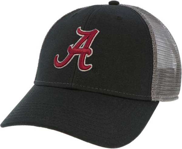 League-Legacy Men's Alabama Crimson Tide Lo-Pro Adjustable Trucker Black Hat product image