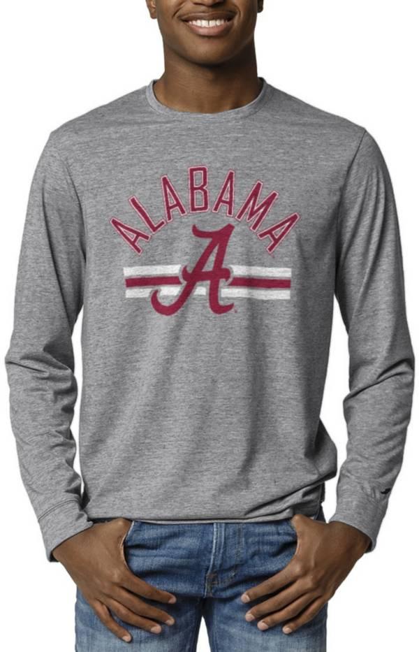 League-Legacy Men's Alabama Crimson Tide Grey Reclaim Tri-Blend Long Sleeve T-Shirt product image