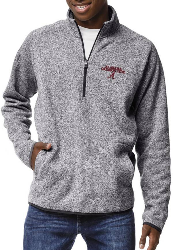 League-Legacy Men's Alabama Crimson Tide Grey Saranac Quarter-Zip Shirt product image