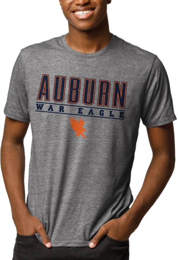 League-Legacy Men's Auburn Tigers Grey Reclaim Tri-Blend T-Shirt product image