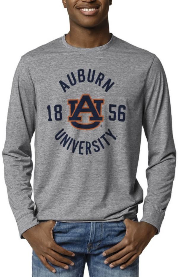 League-Legacy Men's Auburn Tigers Grey Reclaim Tri-Blend Long Sleeve T-Shirt product image