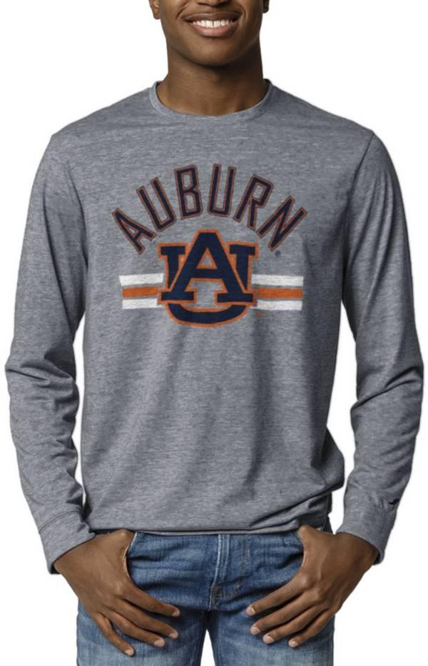 League-Legacy Men's Auburn Tigers Blue Reclaim Tri-Blend Long Sleeve T-Shirt product image