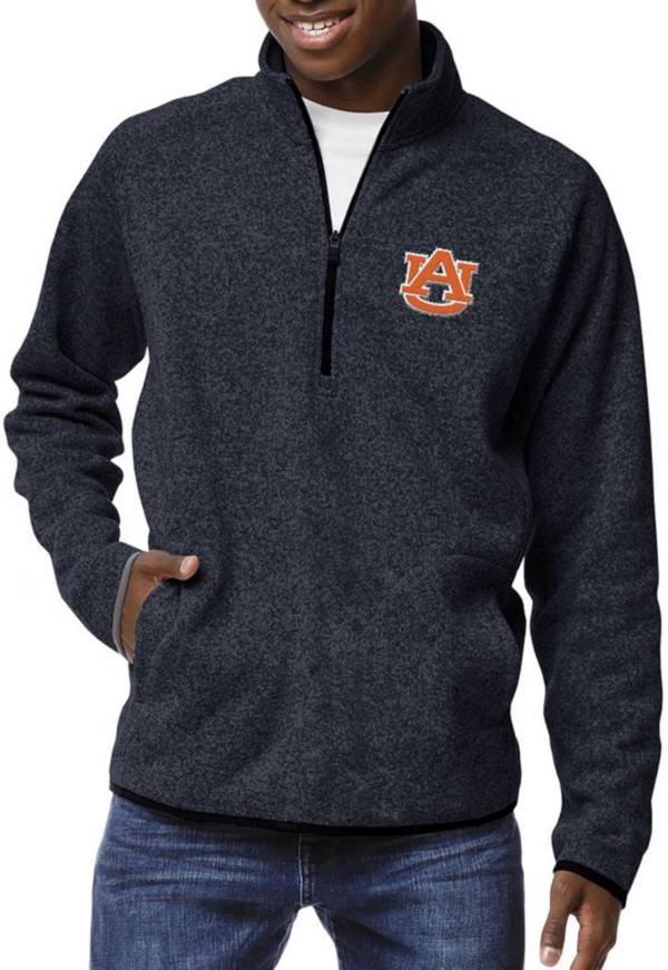 League-Legacy Men's Auburn Tigers Blue Saranac Quarter-Zip Shirt product image