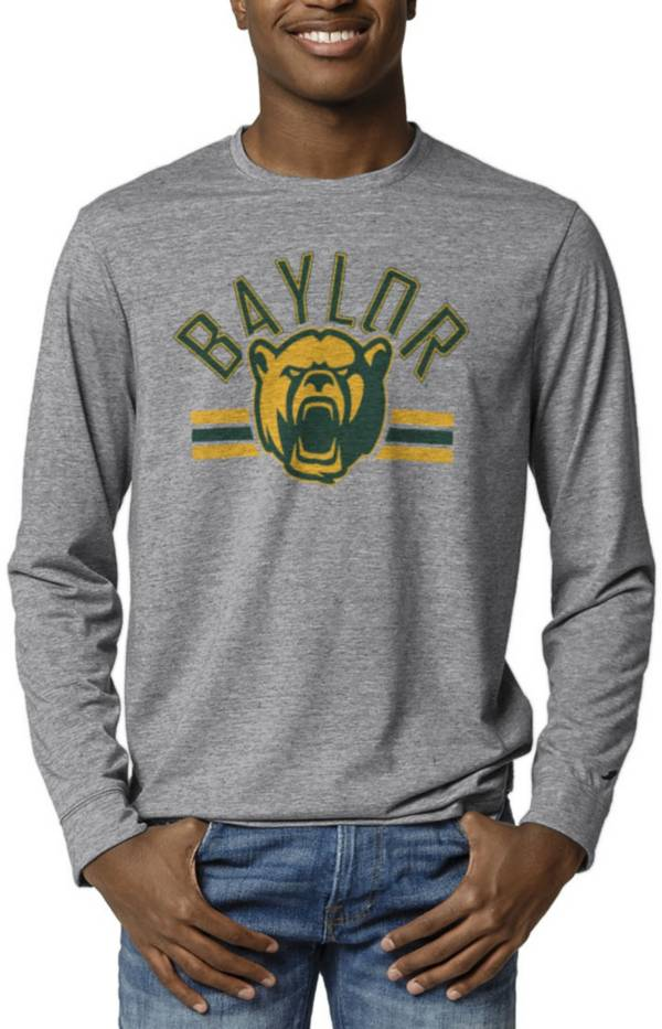 League-Legacy Men's Baylor Bears Grey Reclaim Tri-Blend Long Sleeve T-Shirt product image