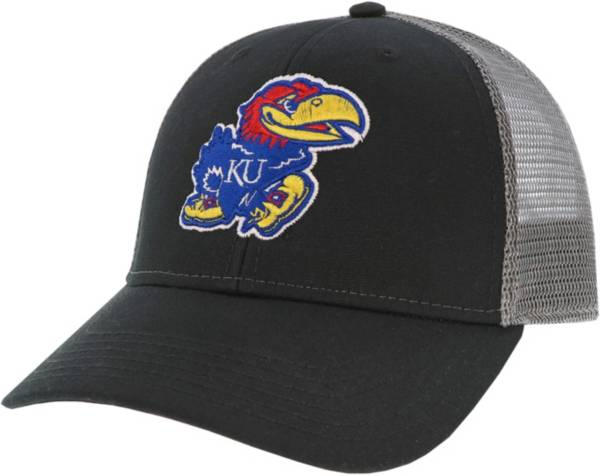 League-Legacy Men's Kansas Jayhawks Lo-Pro Adjustable Trucker Black Hat product image
