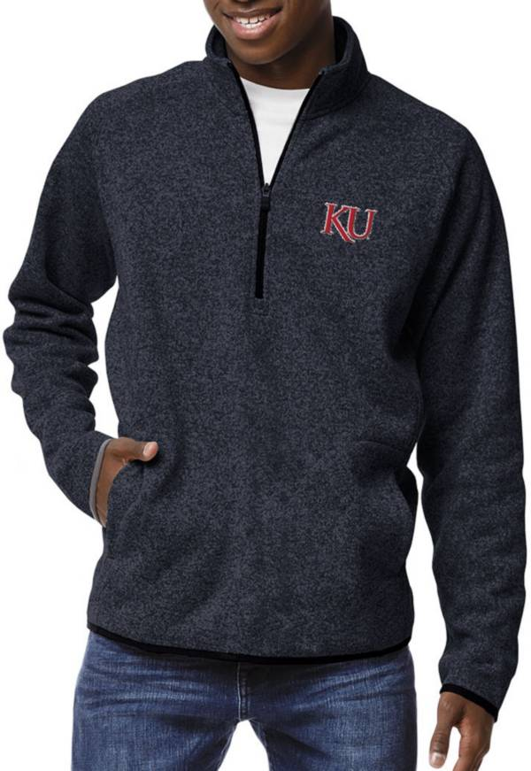 League-Legacy Men's Kansas Jayhawks Blue Saranac Quarter-Zip Shirt product image