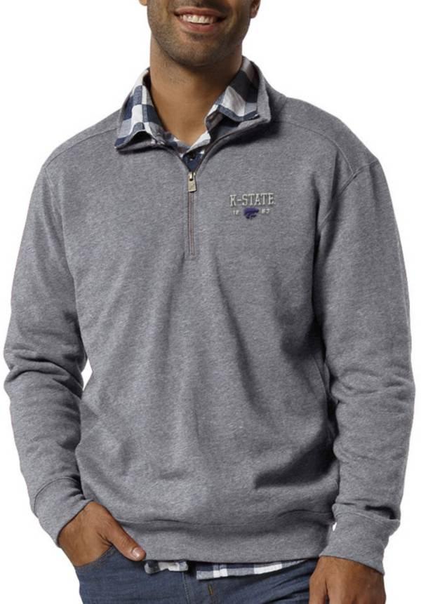League-Legacy Men's Kansas State Wildcats Grey Heritage Quarter-Zip Shirt product image