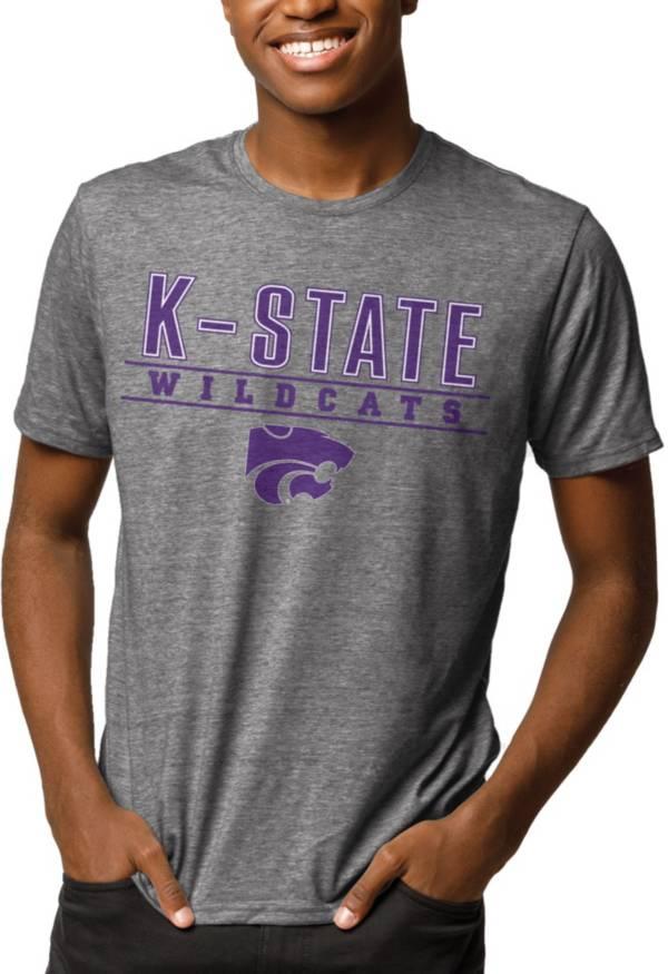 League-Legacy Men's Kansas State Wildcats Grey Reclaim Tri-Blend T-Shirt product image