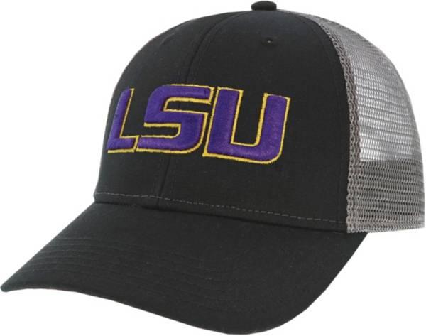 League-Legacy Men's LSU Tigers Lo-Pro Adjustable Trucker Black Hat product image