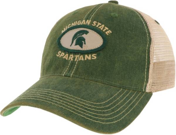 League-Legacy Men's Michigan State Spartans Green Old Favorite Adjustable Trucker Hat product image