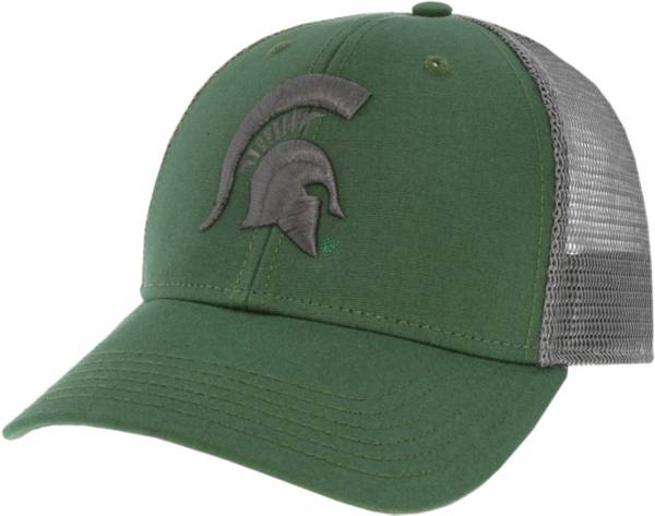 League-Legacy Men's Michigan State Spartans Green Lo-Pro Adjustable Trucker Hat product image