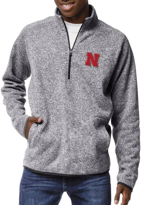 League-Legacy Men's Nebraska Cornhuskers Grey Saranac Quarter-Zip Shirt product image