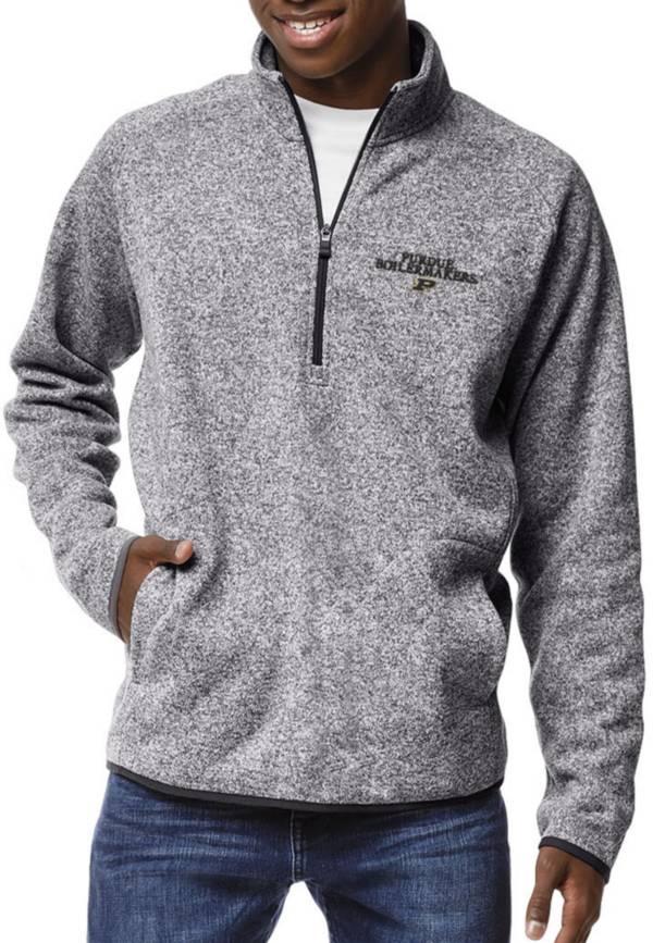 League-Legacy Men's Purdue Boilermakers Grey Saranac Quarter-Zip Shirt product image