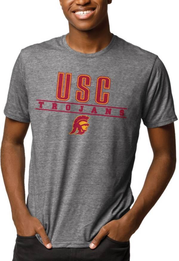 League-Legacy Men's USC Trojans Grey Reclaim Tri-Blend T-Shirt product image