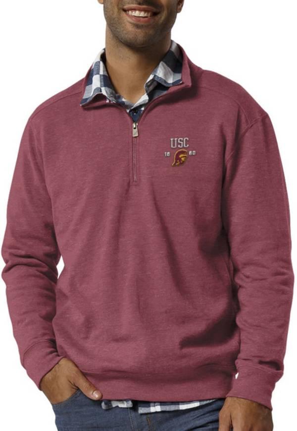 League-Legacy Men's USC Trojans Cardinal Heritage Quarter-Zip Shirt product image