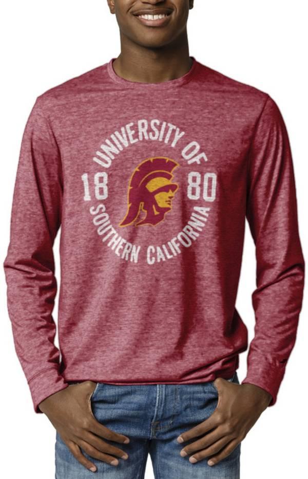 League-Legacy Men's USC Trojans Cardinal Reclaim Tri-Blend Long Sleeve T-Shirt product image