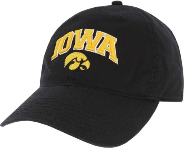 League-Legacy Men's Iowa Hawkeyes Relaxed Twill Adjustable Black Hat product image