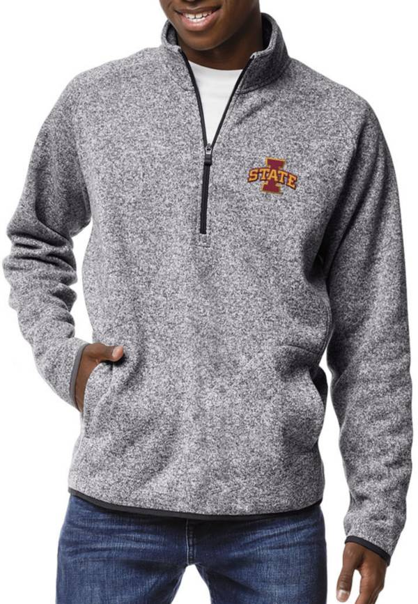League-Legacy Men's Iowa State Cyclones Grey Saranac Quarter-Zip Shirt product image