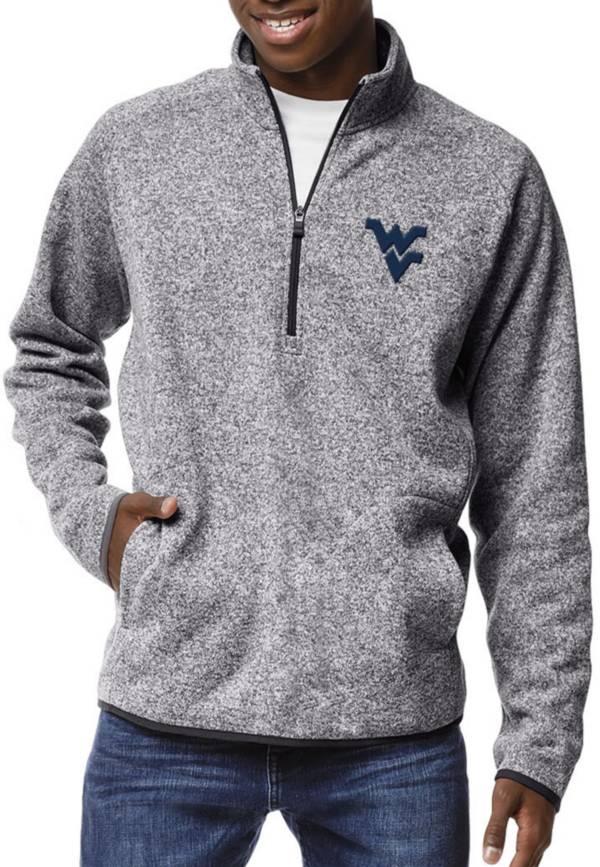 League-Legacy Men's West Virginia Mountaineers Grey Saranac Quarter-Zip Shirt product image