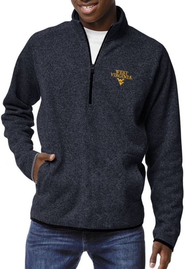League-Legacy Men's West Virginia Mountaineers Blue Saranac Quarter-Zip Shirt product image