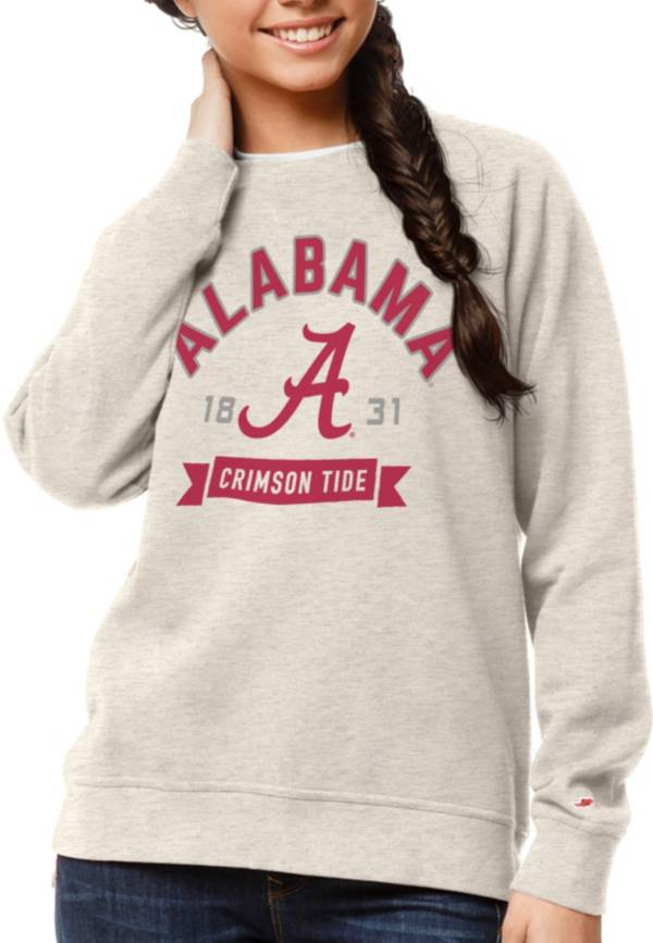 League-Legacy Women's Alabama Crimson Tide Oatmeal Academy Crew Sweatshirt product image