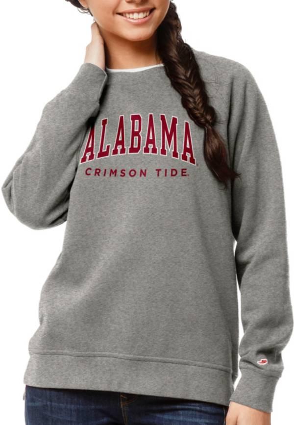 League-Legacy Women's Alabama Crimson Tide Grey Academy Crew Sweatshirt product image