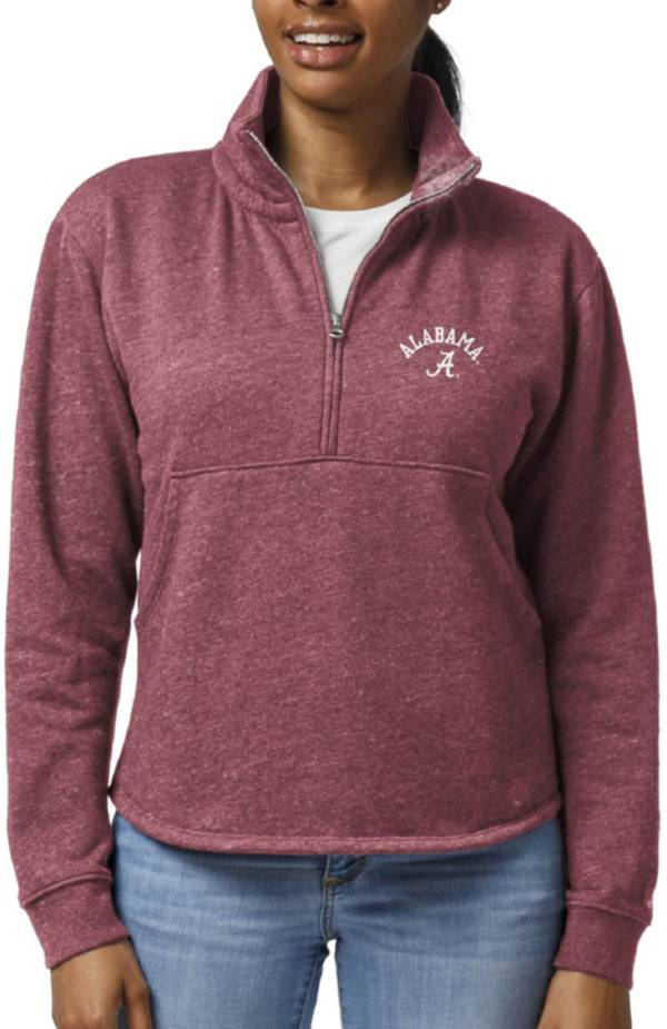 League-Legacy Women's Alabama Crimson Tide Crimson Victory Springs Quarter-Zip Shirt product image
