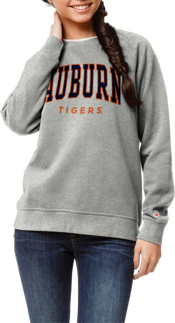 League-Legacy Women's Auburn Tigers Grey Academy Crew Sweatshirt product image