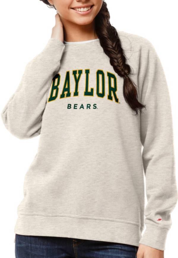 League-Legacy Women's Baylor Bears Oatmeal Academy Crew Sweatshirt product image