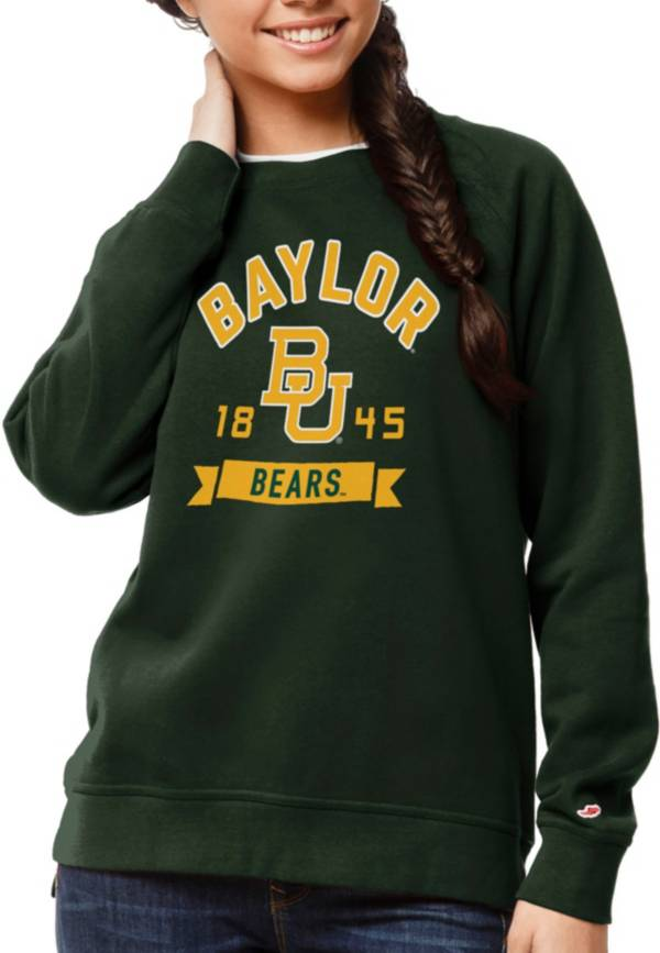 League-Legacy Women's Baylor Bears Green Academy Crew Sweatshirt product image