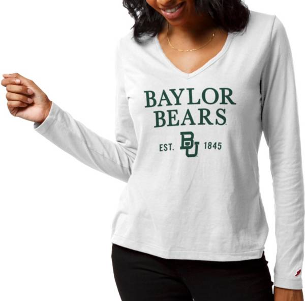 League-Legacy Women's Baylor Bears ReSpin Long Sleeve White T-Shirt product image