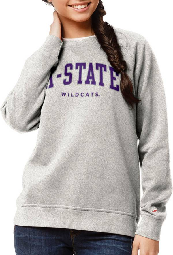 League-Legacy Women's Kansas State Wildcats Oatmeal Academy Crew Sweatshirt product image