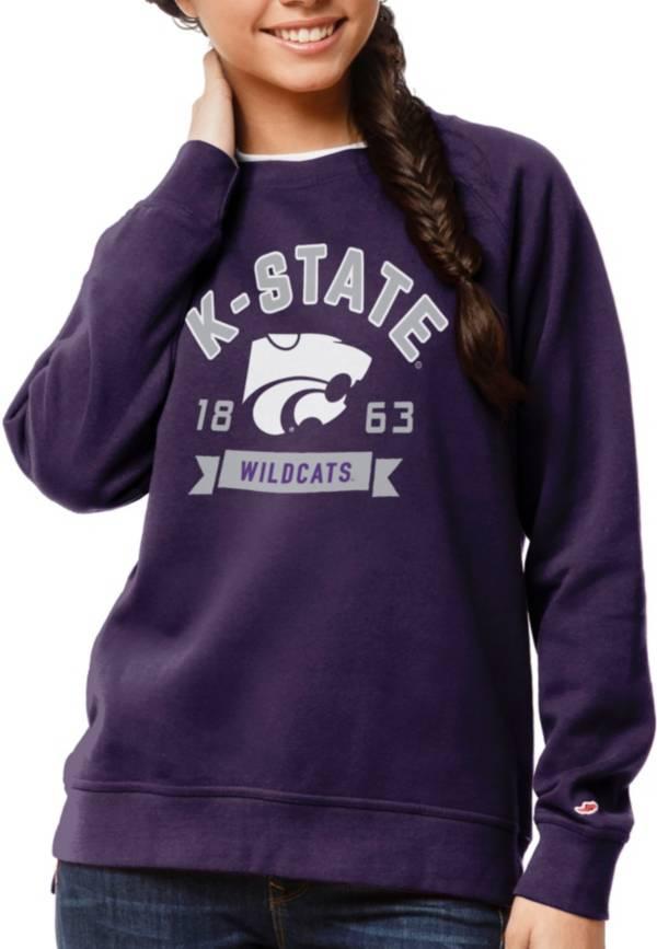 League-Legacy Women's Kansas State Wildcats Purple Academy Crew Sweatshirt product image