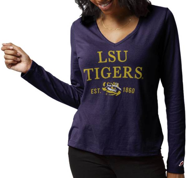 League-Legacy Women's LSU Tigers Purple ReSpin Long Sleeve T-Shirt product image