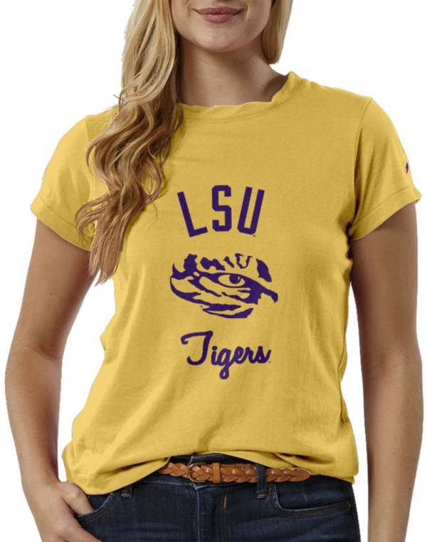 League-Legacy Women's LSU Tigers Gold ReSpin T-Shirt product image
