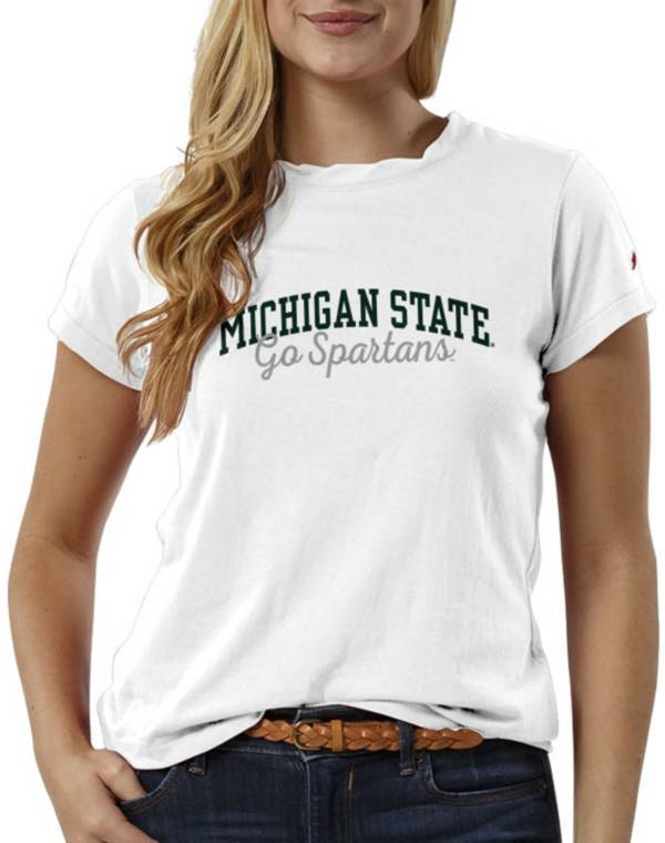 League-Legacy Women's Michigan State Spartans ReSpin White T-Shirt product image