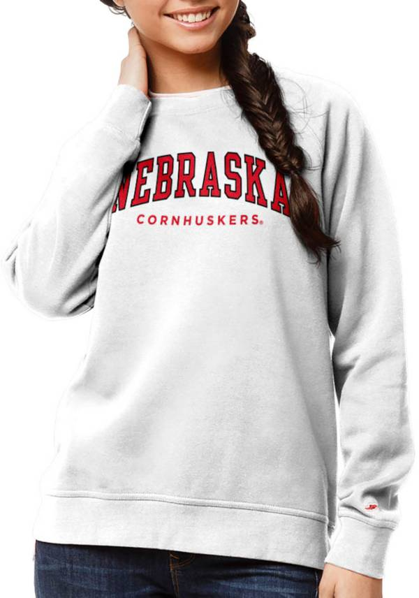 League-Legacy Women's Nebraska Cornhuskers Academy Crew White Sweatshirt product image