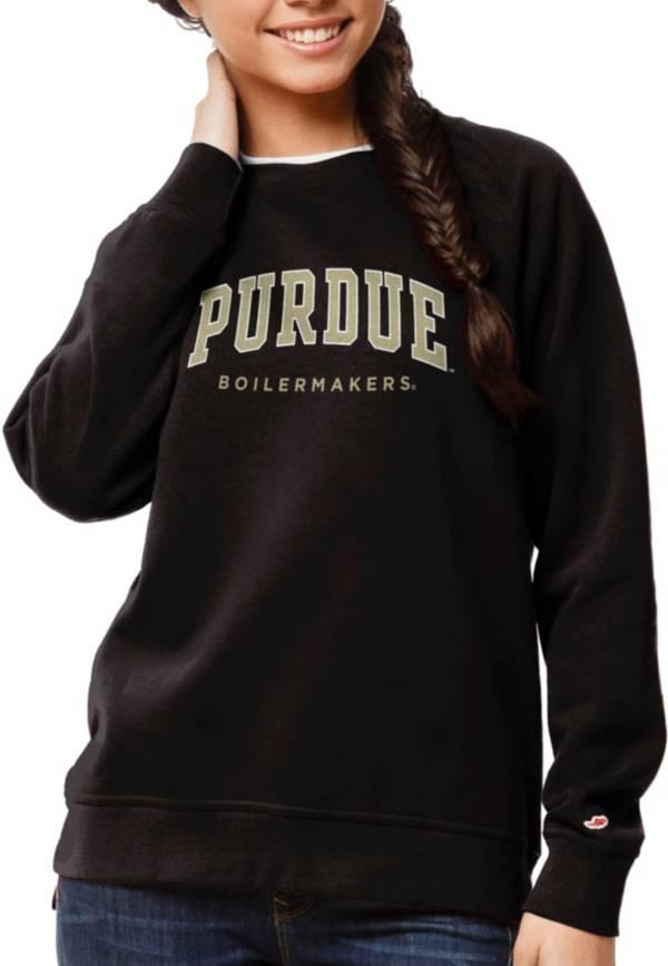 League-Legacy Women's Purdue Boilermakers Academy Crew Black Sweatshirt product image