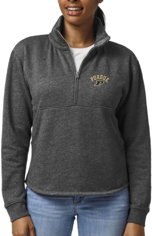 League-Legacy Women's Purdue Boilermakers Black Victory Springs Quarter-Zip Shirt product image