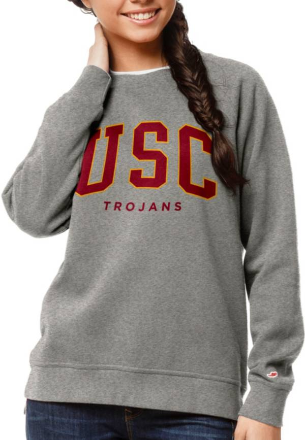 League-Legacy Women's USC Trojans Grey Academy Crew Sweatshirt product image