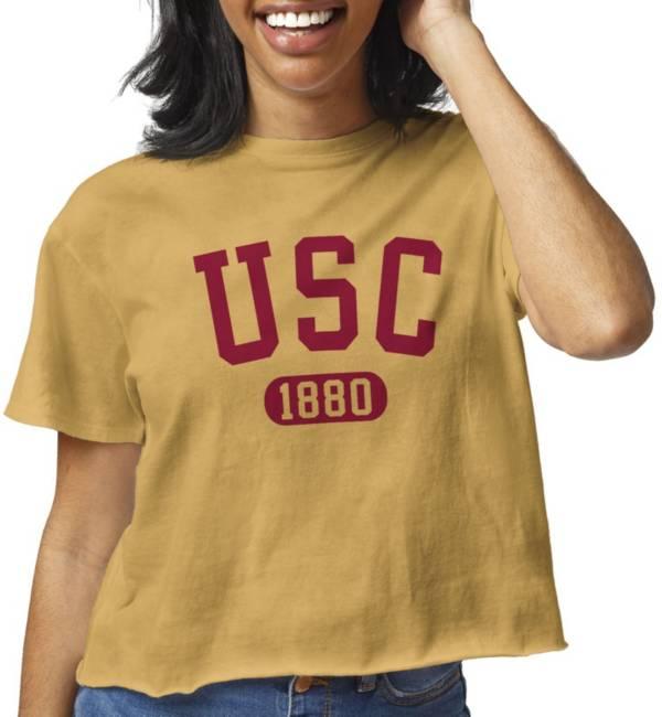 League-Legacy Women's USC Trojans Gold Clothesline Cotton Cropped T-Shirt product image
