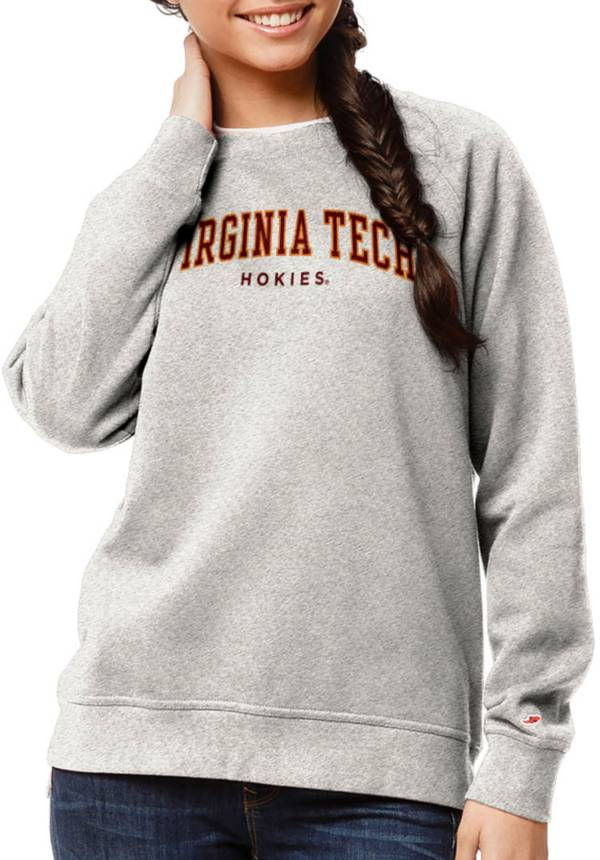 League-Legacy Women's Virginia Tech Hokies Oatmeal Academy Crew Sweatshirt product image