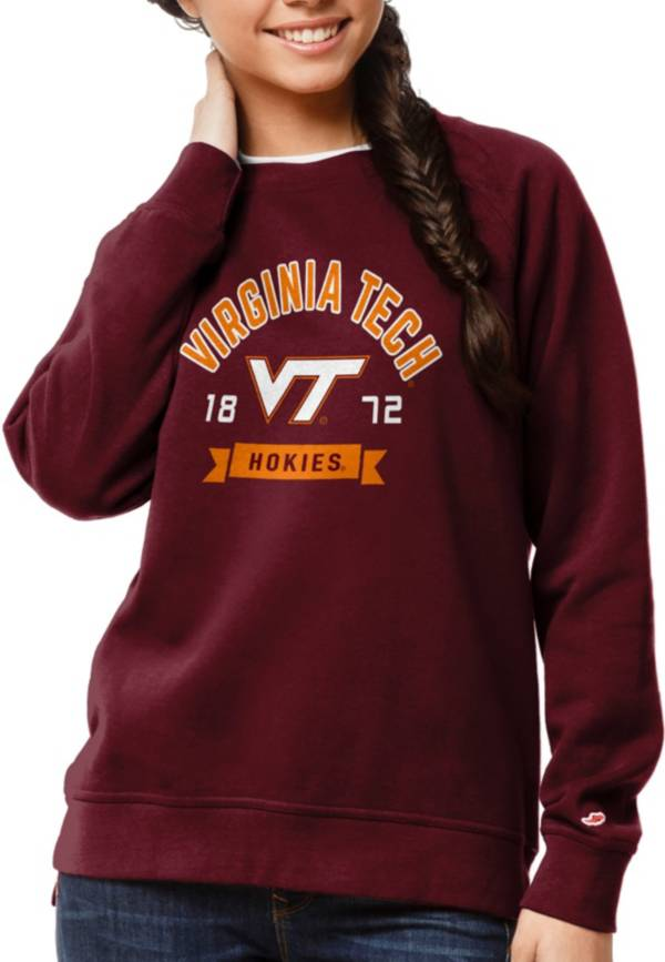 League-Legacy Women's Virginia Tech Hokies Maroon Academy Crew Sweatshirt product image