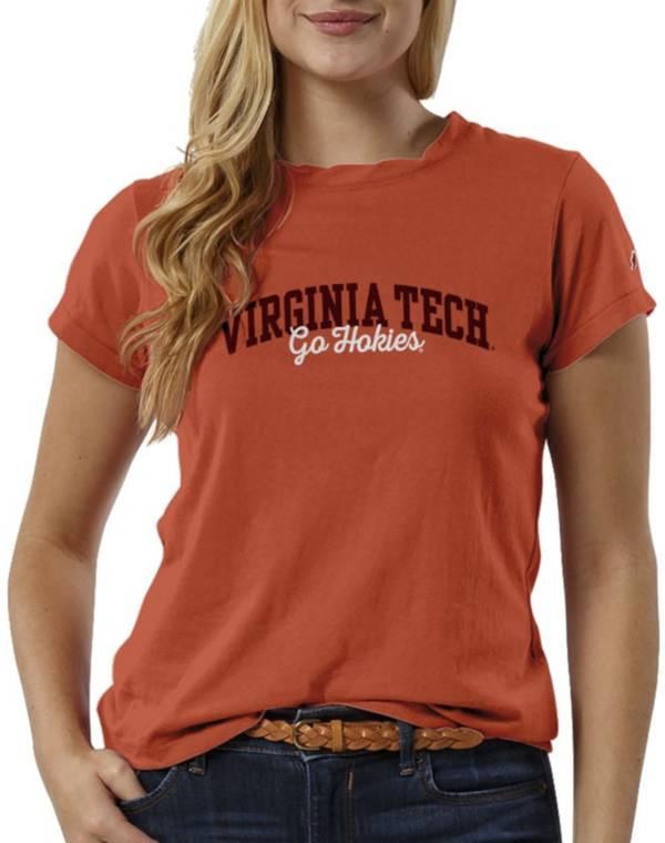 League-Legacy Women's Virginia Tech Hokies Burnt Orange ReSpin T-Shirt product image