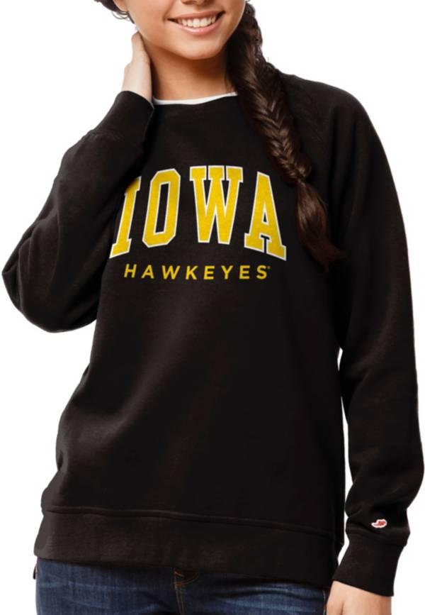 League-Legacy Women's Iowa Hawkeyes Academy Crew Black Sweatshirt product image