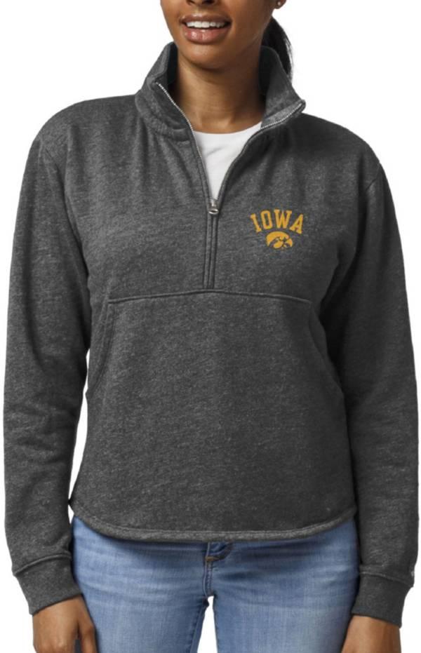 League-Legacy Women's Iowa Hawkeyes Black Victory Springs Quarter-Zip Shirt product image